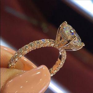 Jewelry - 14k rose gold diamond engagement ring wedding